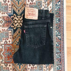 Vintage 512 Levi's black high rise tapered jeans